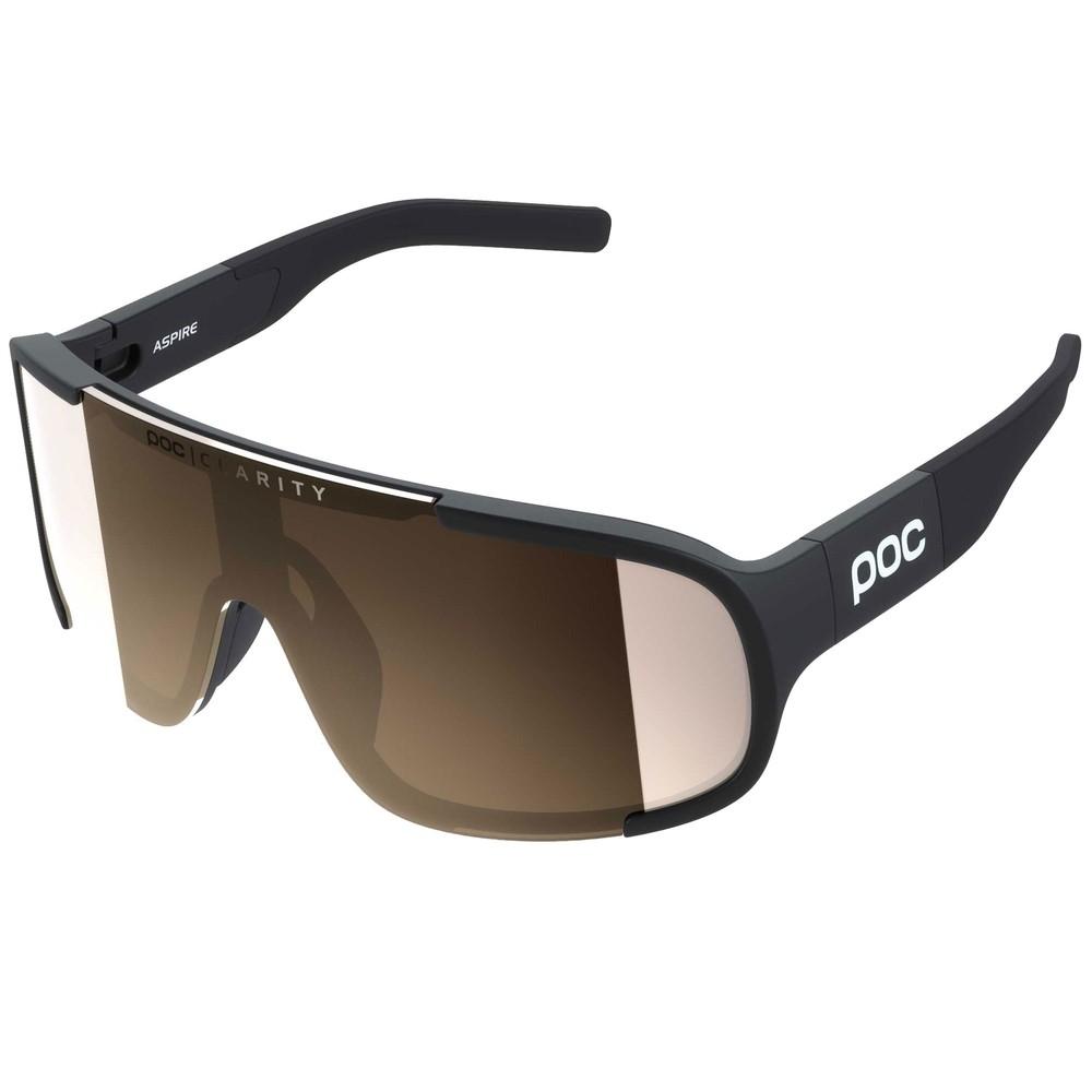 POC Aspire Clarity Sunglasses Uranium Black With Brown/Silver Mirror Lens