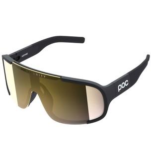 POC Aspire Clarity Sunglasses Uranium Black With Violet/Gold Mirror Lens