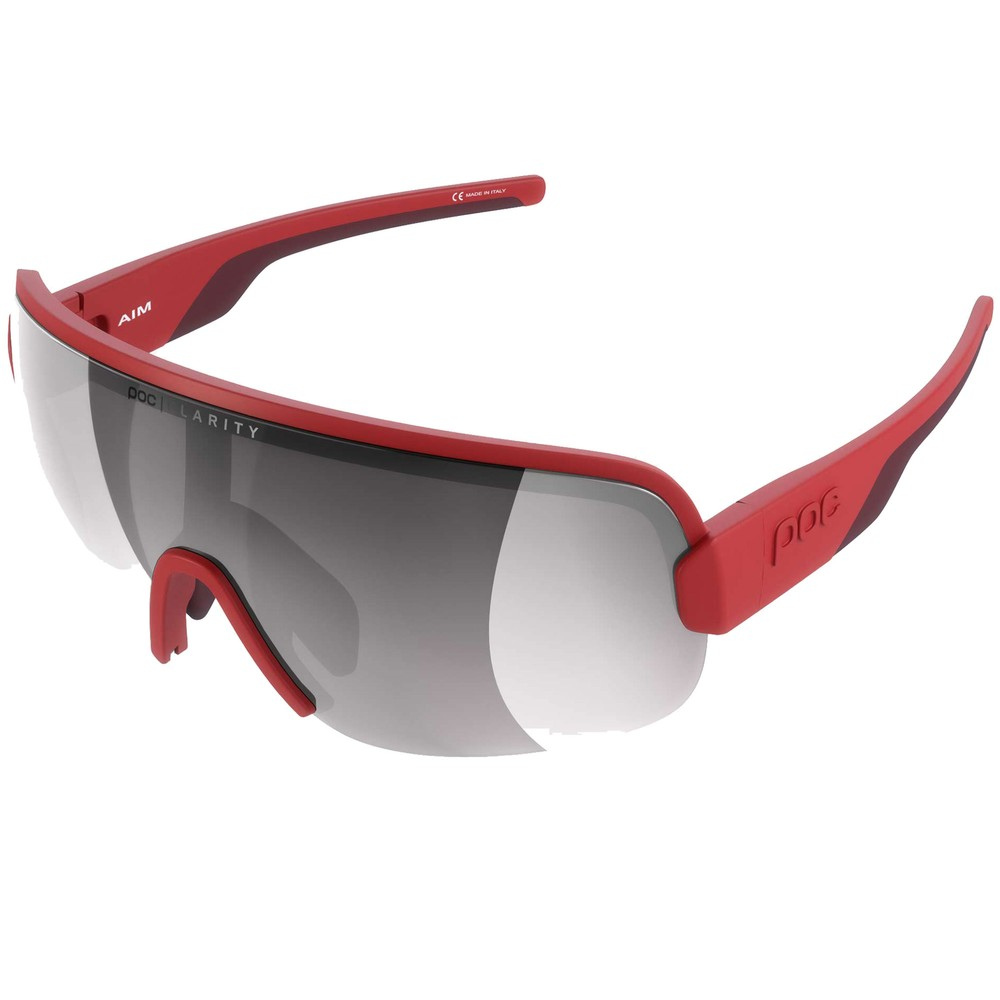 POC Aim Sunglasses Prismane Red With Violet/Silver Mirror Lens