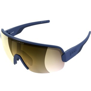 POC Aim Sunglasses Lead Blue With Violet/Gold Mirror Lens