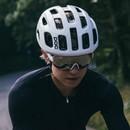 POC Aim Sunglasses Hydrogen White With Violet/Silver Mirror Lens
