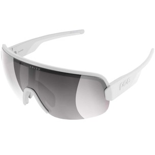 POC Aim Sunglasses Hydrogen White With Violet/Silver Mirror Lens