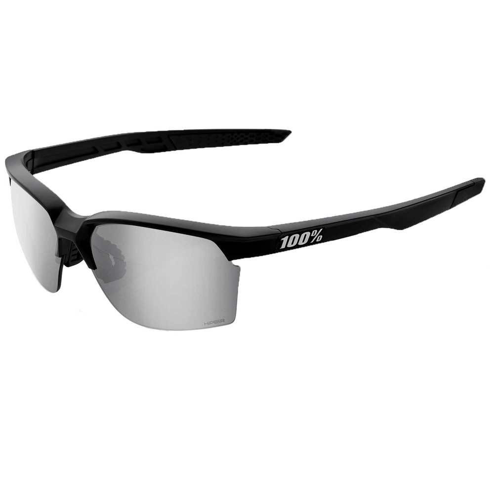 100% Sportcoupe Sunglasses With HiPER Silver Mirror Lens