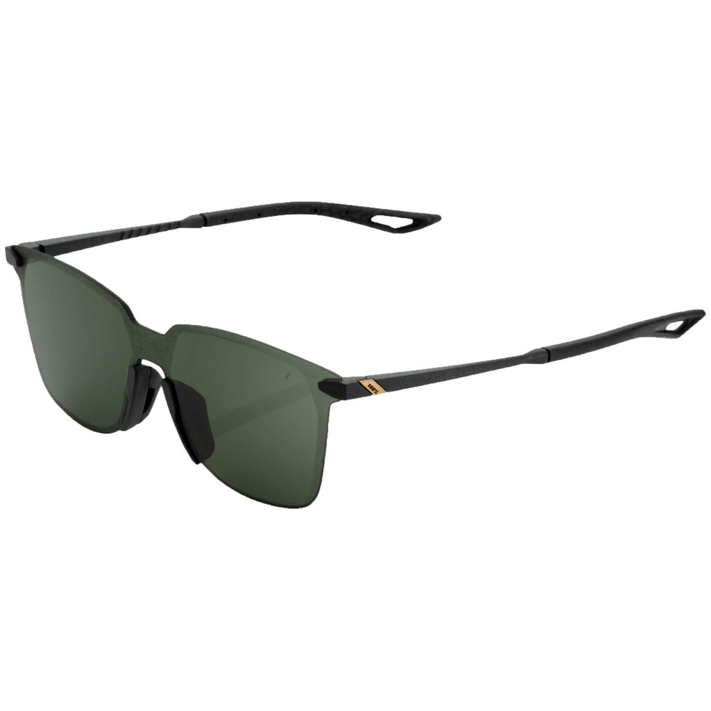 100% Legere Square Sunglasses With Grey Green Lens