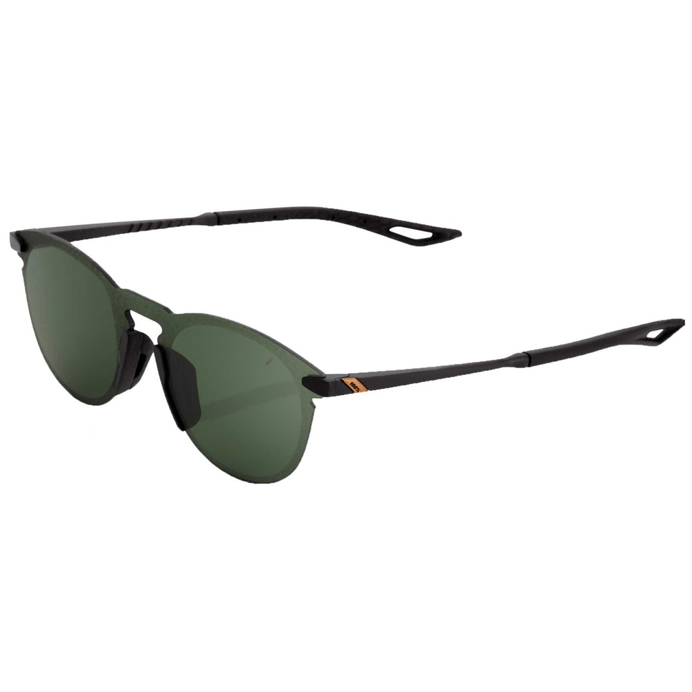 100% Legere Round Sunglasses With Grey Green Lens
