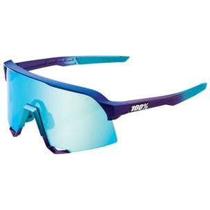 100% S3 Sunglasses With Blue Topaz Multilayer Mirror Lens