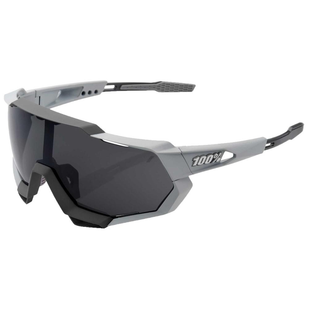 100% Speedtrap Sunglasses With Smoke Grey Lens