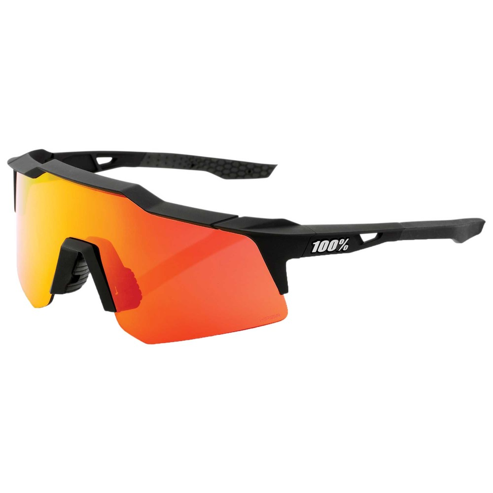 100% Speedcraft XS Sunglasses With HiPER Red Multilayer Mirror Lens