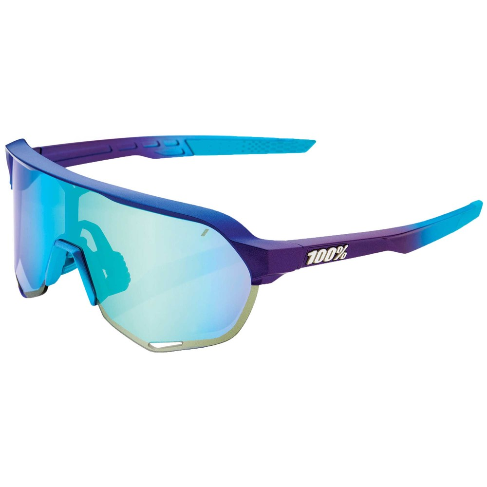 100% S2 Sunglasses With Blue Topaz Multilayer Mirror Lens