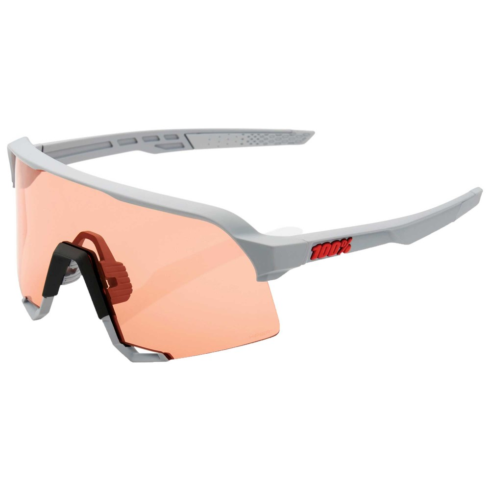 100% S3 Sunglasses With HiPER Coral Lens