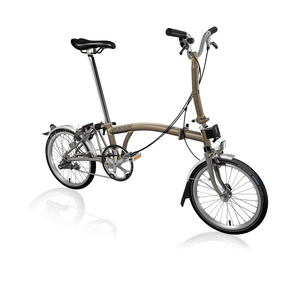 Brompton Steel/Titanium M3L Folding Bike With Front Carrier Block