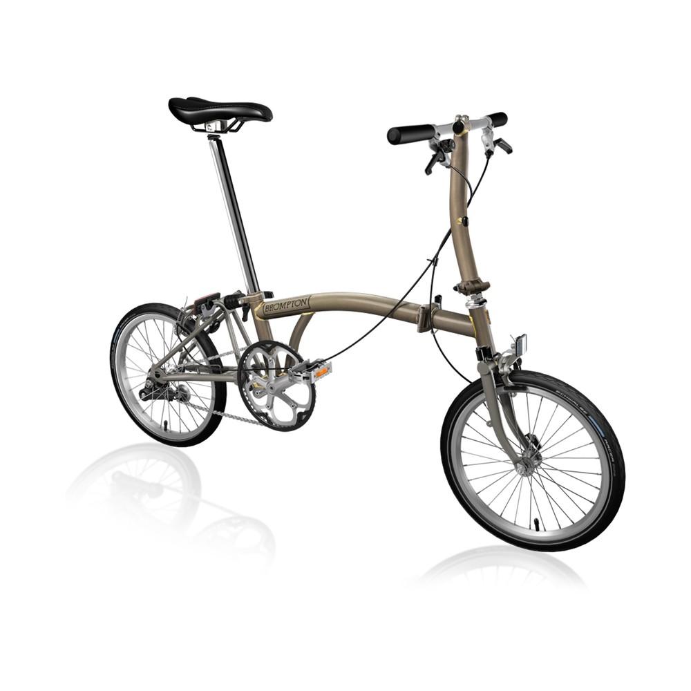 Brompton Steel/Titanium S1E Folding Bike