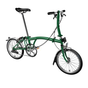 Brompton Steel S2L Folding Bike With Mudguards