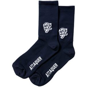 Attaquer Side Skull Logo Socks