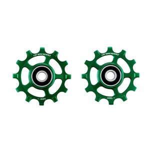 CeramicSpeed SRAM 12-speed AXS Coated Pulley Wheels Green Ltd Edition