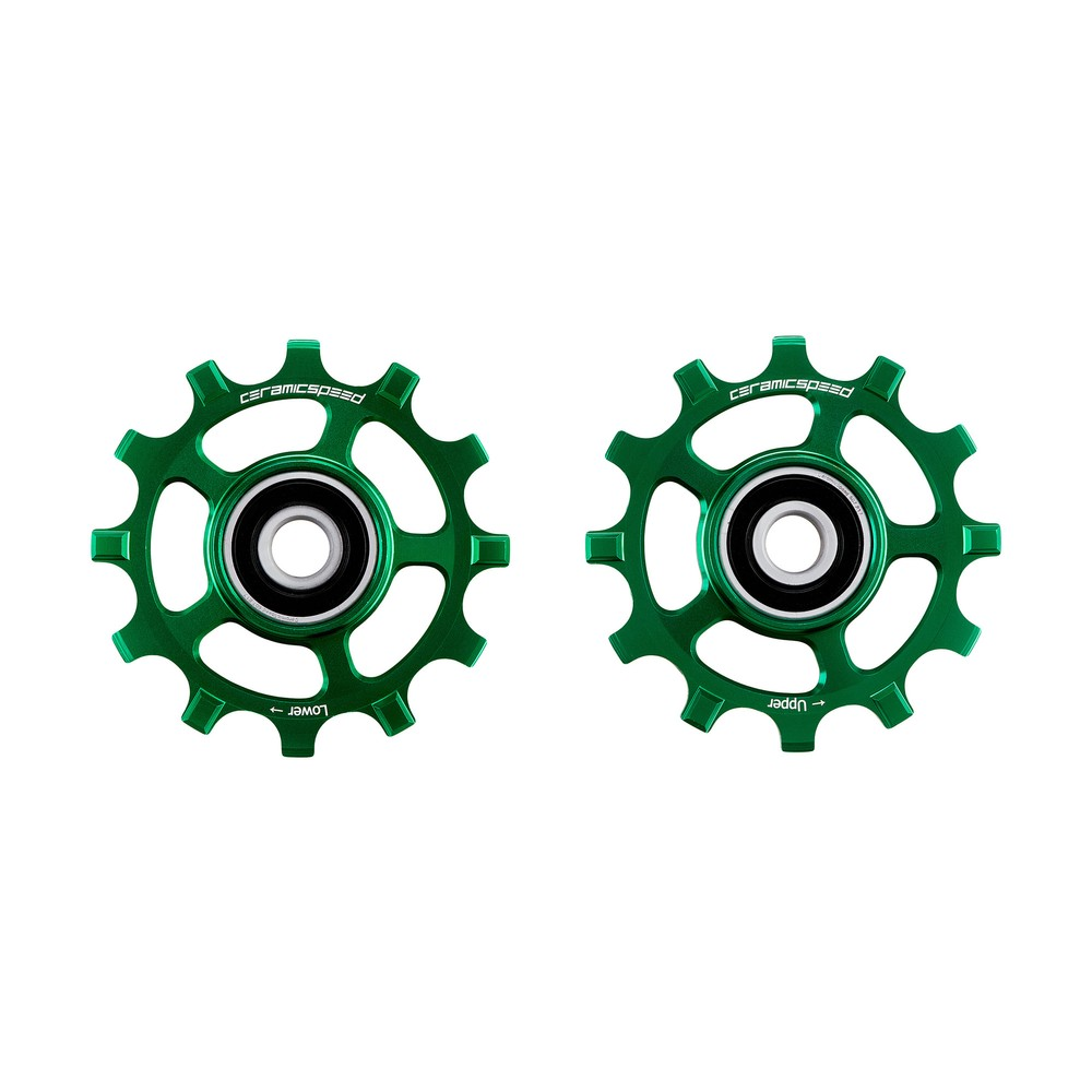CeramicSpeed Shimano 11-speed Coated Pulley Wheels Green Ltd Edition