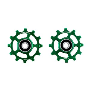 CeramicSpeed Campag 12-speed Coated Road Pulley Wheels Green Ltd Edition