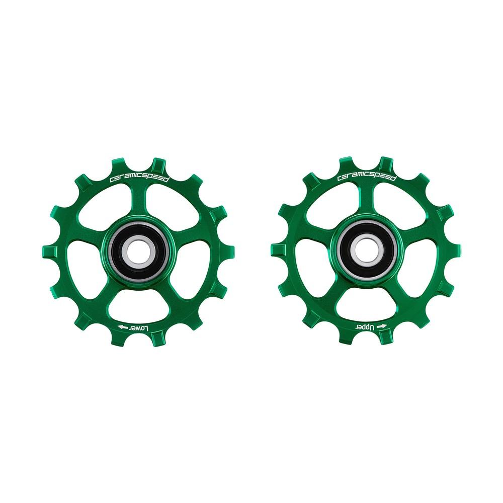 CeramicSpeed SRAM Eagle 12-speed Coated Pulley Wheels Green Ltd Edition