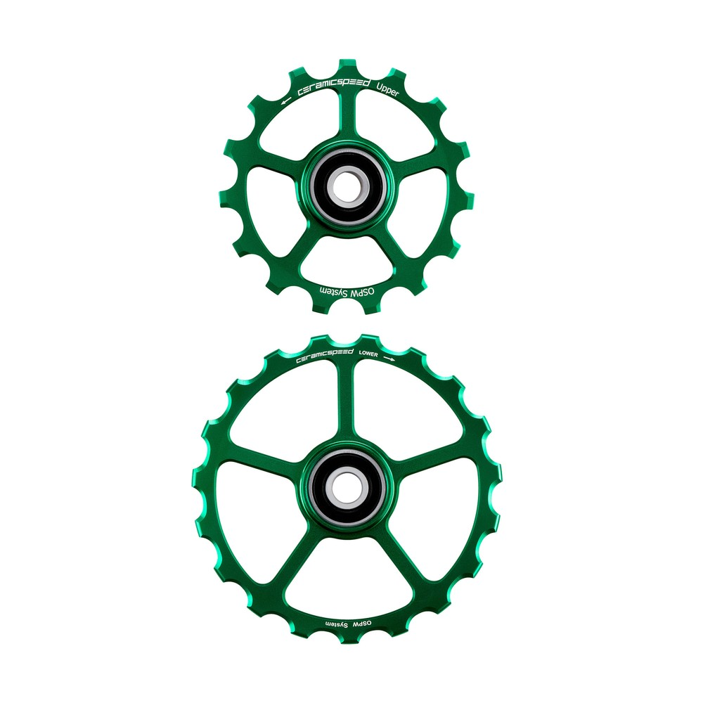 CeramicSpeed OSPW Coated No Cage 15 & 19T Green Ltd Edition
