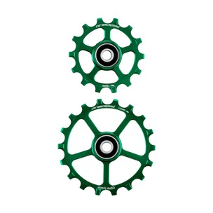 CeramicSpeed OSPW Coated No Cage 14 & 18T Green Ltd Edition