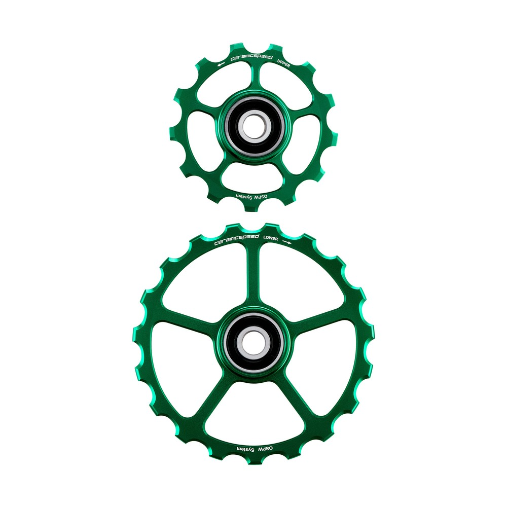 CeramicSpeed OSPW Coated No Cage 13 & 19T Green Ltd Edition