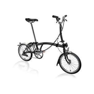 Brompton Steel M6L Folding Bike With Mudguards & Front Carrier Block 2021