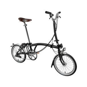 Brompton H6L Steel Folding Bike + Mudguards + Dynamo Lights + Brooks Saddle