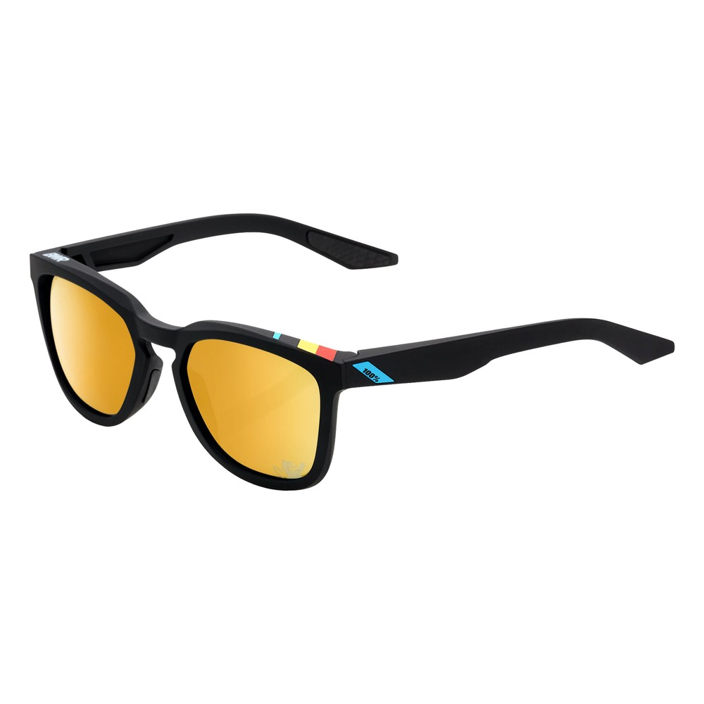 100% Hudson Ltd BWR Sunglasses With Gold Mirror Lens