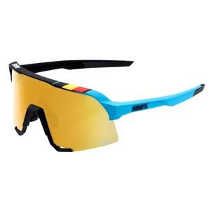 100% S3 Ltd BWR Sunglasses With Gold Mirror Lens