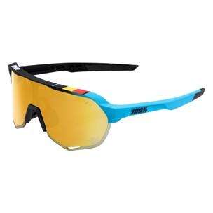 100% S2 Ltd BWR Sunglasses With Gold Mirror Lens