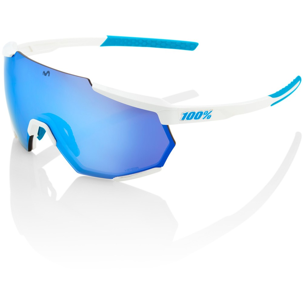 100% Racetrap Movistar Team Sunglasses With Blue Mirror Lens