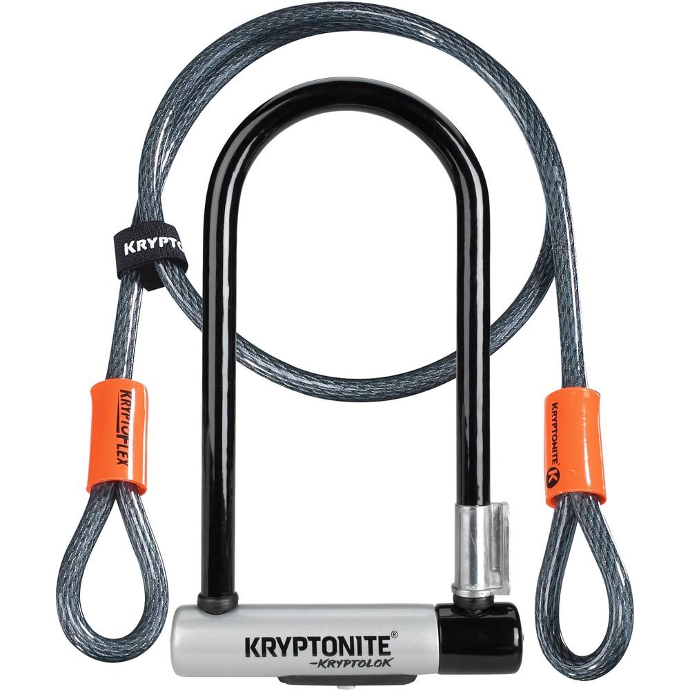 Kryptonite KryptoLok Standard U-Lock + 4 Foot Kryptoflex Cable Sold Secure Gold