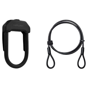 Hiplok DX+ D-Lock With Cable Sold Secure Gold