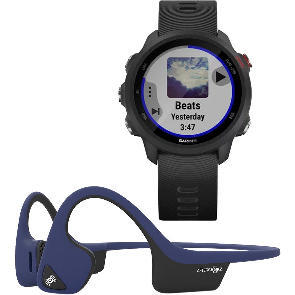 Garmin Forerunner 245 Watch X Aftershokz Trekz Air Headphones