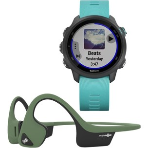 Garmin Forerunner 245 Watch X Aftershokz Trekz Air Headphones