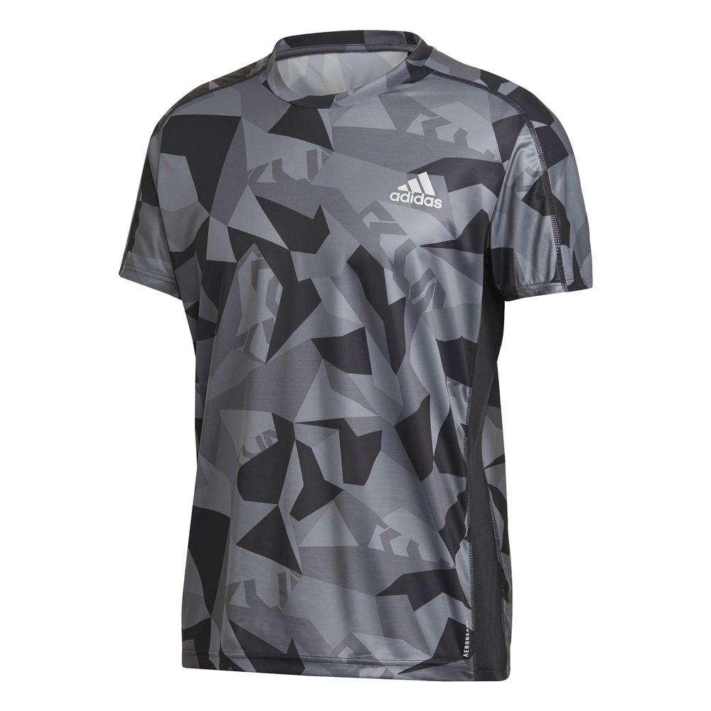 Adidas Own The Run Camouflage Short Sleeve T-Shirt