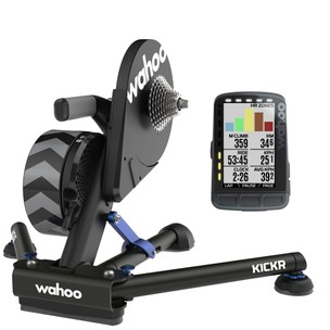 Wahoo KICKR + ELEMNT ROAM GPS Indoor Smart Training Bundle