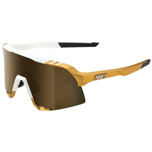 100% S3 Sagan Limited Edition Sunglasses With Soft Gold Mirror Lens