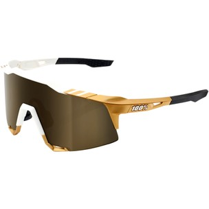 100% Speedcraft Sagan Limited Edition Sunglasses With Soft Gold Mirror Lens