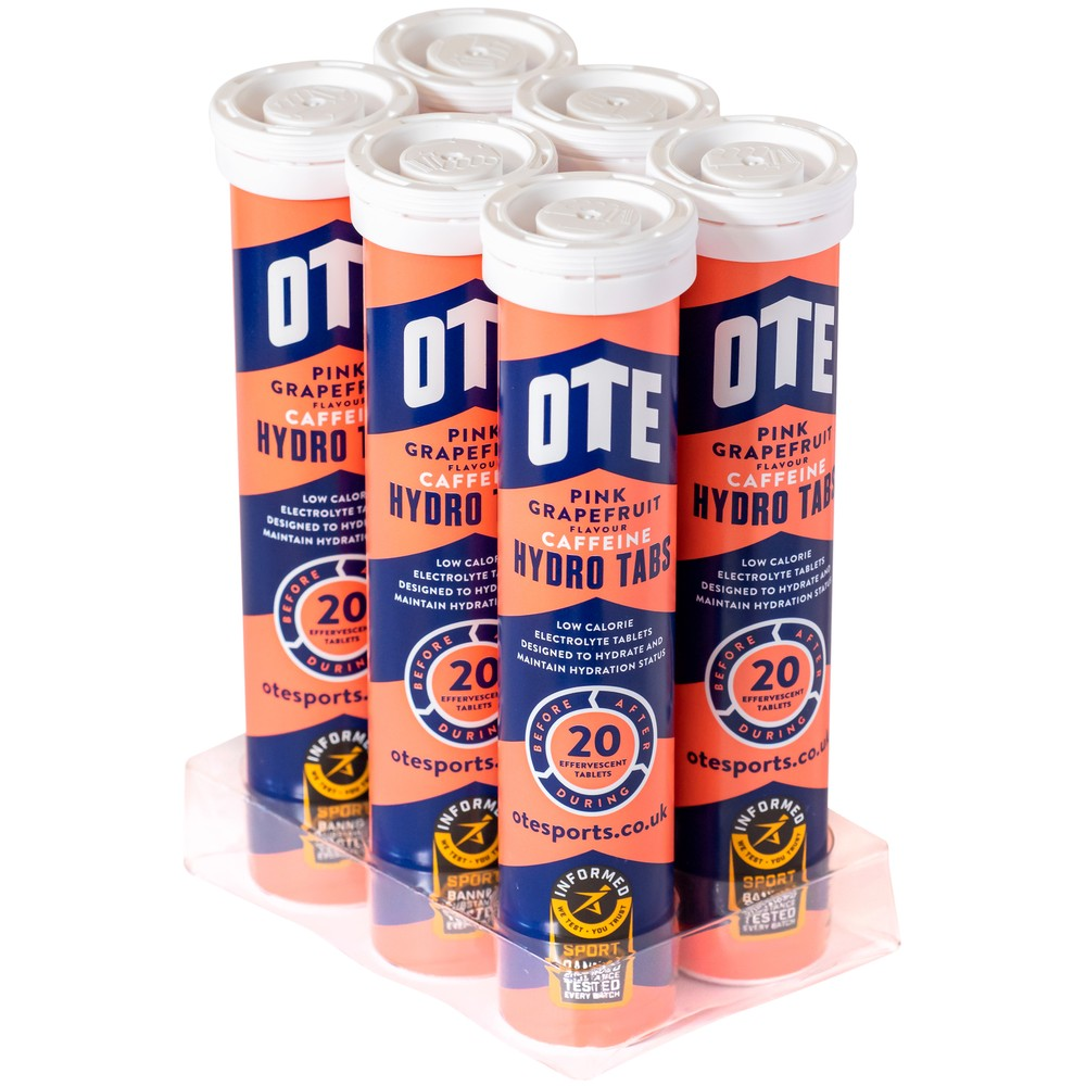 OTE  50mg Caffeine Hydro Tablets Box Of 6 Tubes
