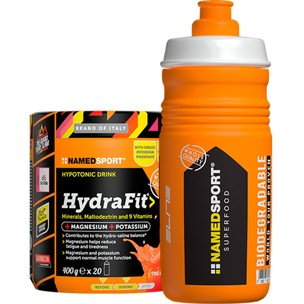 NAMEDSPORT HydraFit Energy Drink Mix 400g With HYDRA2PRO Sports Bottle