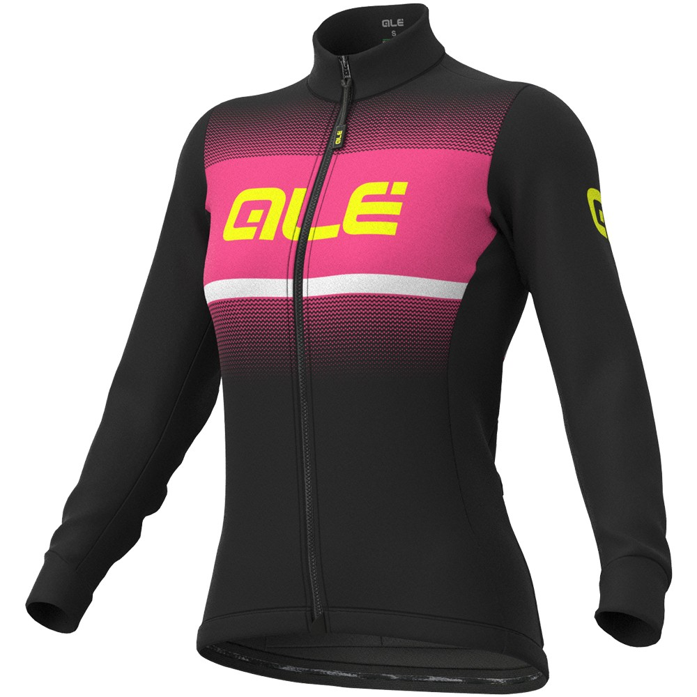 Ale Solid Blend Winter Womens Long Sleeve Jersey