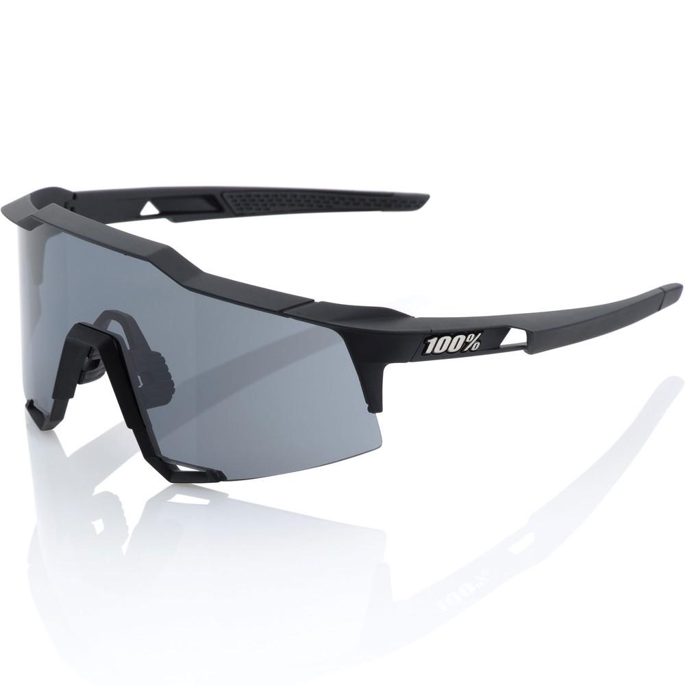 100% Speedcraft Black Smoke Sunglasses With Smoke Lens
