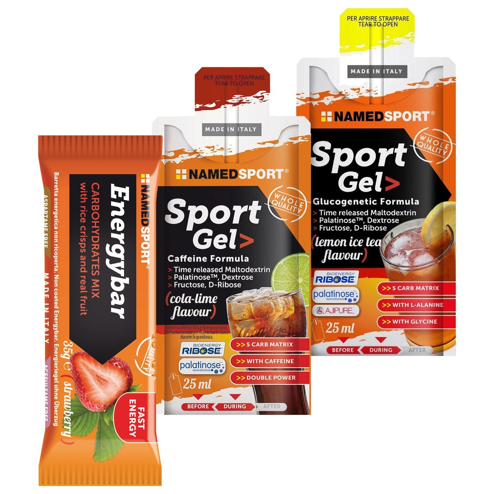 NAMEDSPORT Energy Bar And Sports Gel Tour Bundle