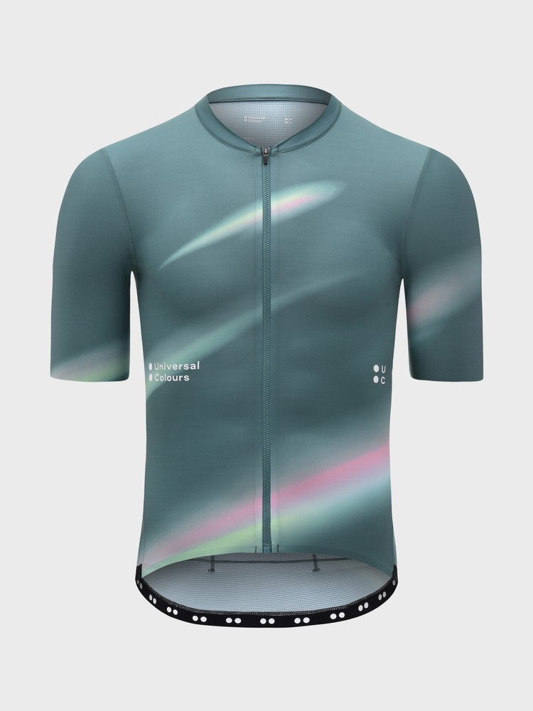 Spectrum Men's Short Sleeve Jersey Teal Blur