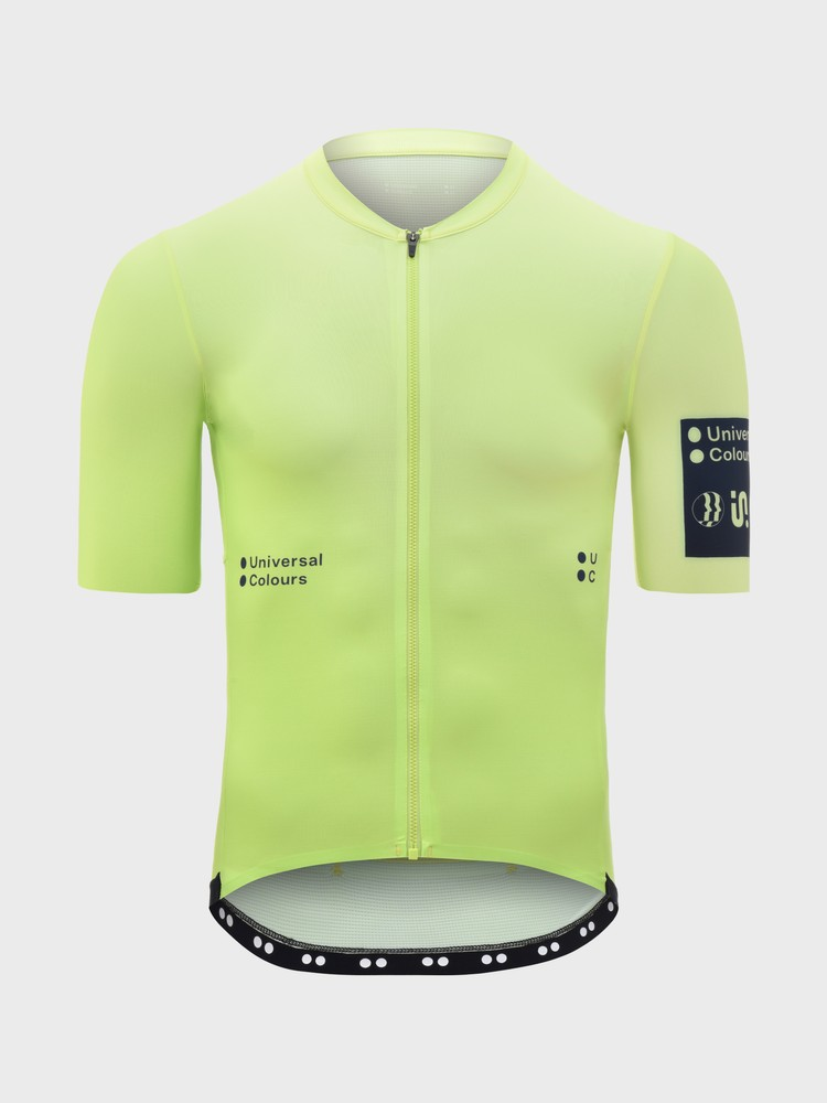 Spectrum Men's Short Sleeve Jersey Lime Green Fade