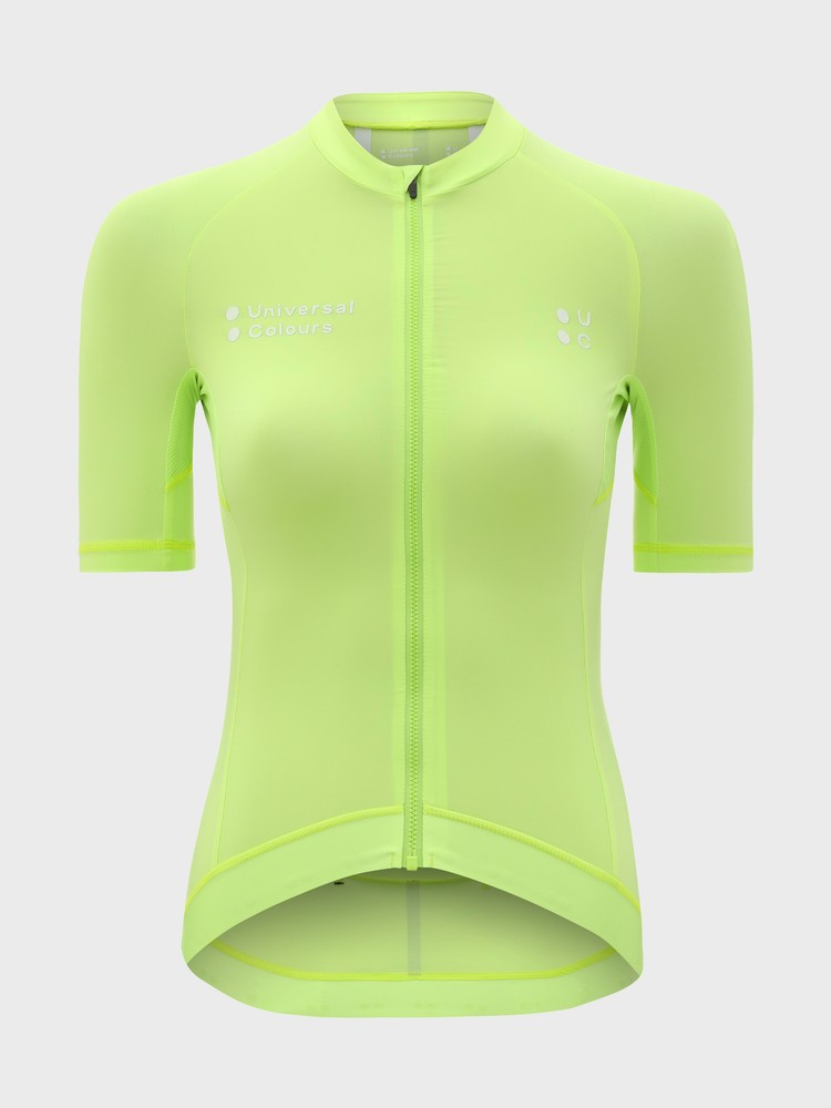 Mono Women's Short Sleeve Jersey Lime Green