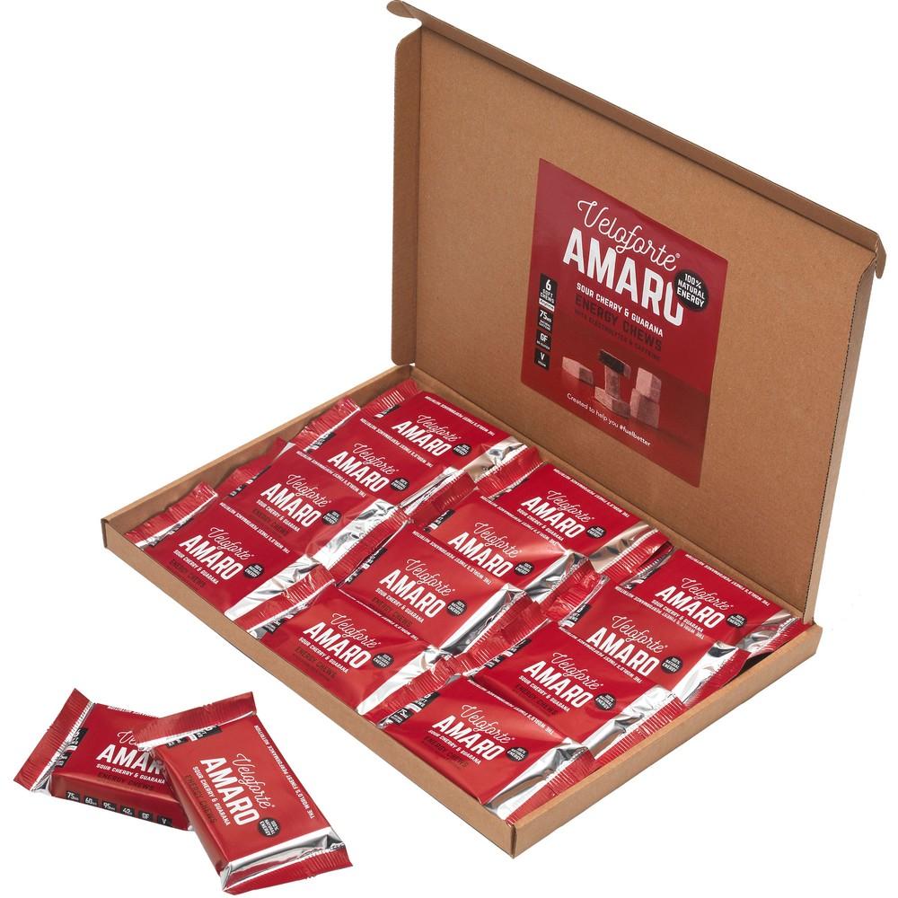 Veloforte Amaro Cubos Energy Chews With Caffeine Box Of 20