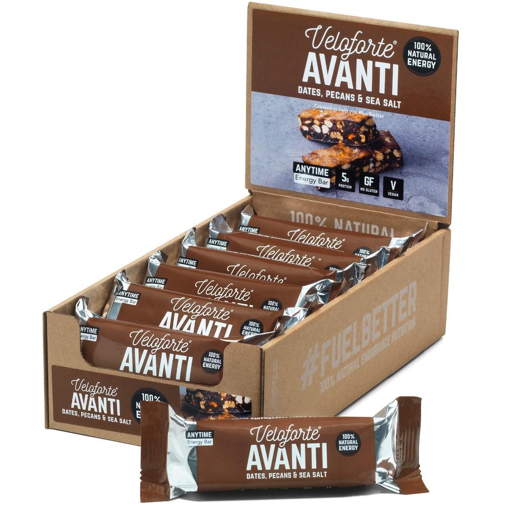 Veloforte Avanti Natural Energy Bar With Sea Salt Box Of 15 X 62g Bars