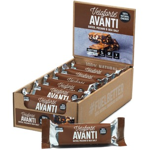 Veloforte Avanti Natural Energy Bar With Sea Salt Box Of 12 X 62g Bars